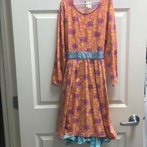 Matilda Jane Dress & Legging set girls size 14